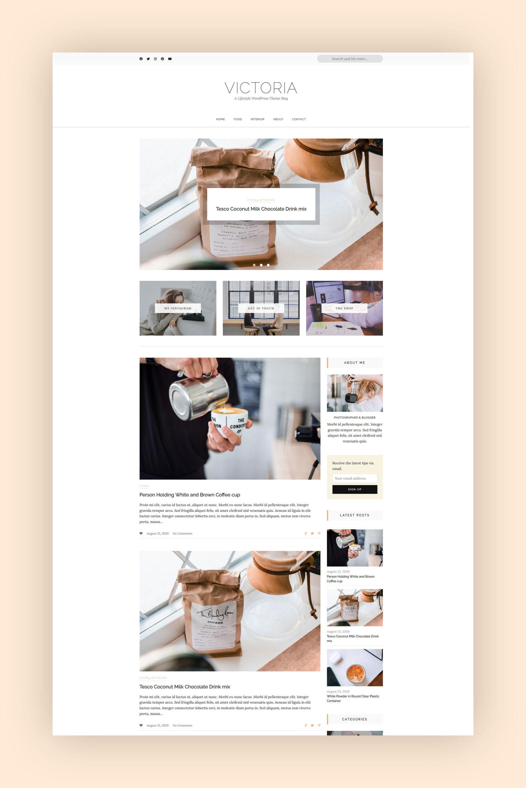 Victoria - A WordPress Theme for Bloggers