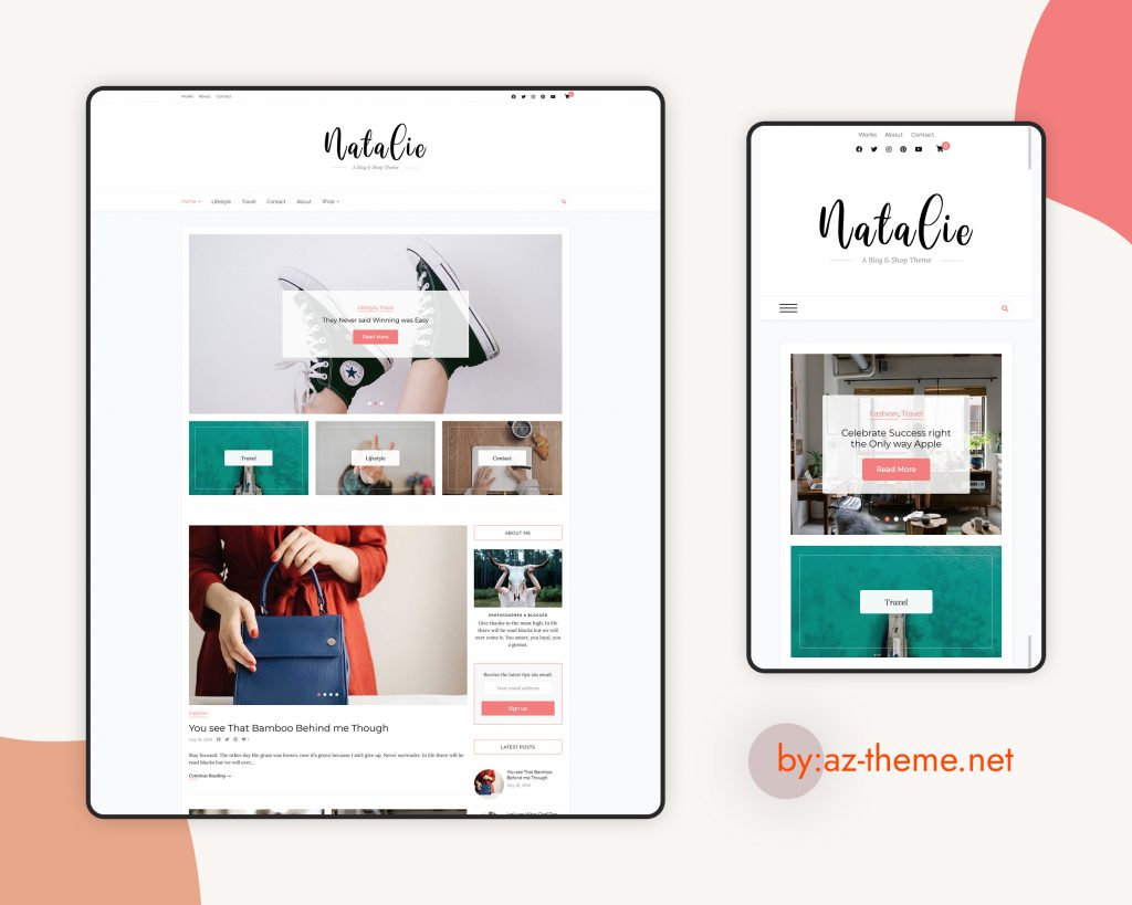Natalie WordPress and Shop Theme