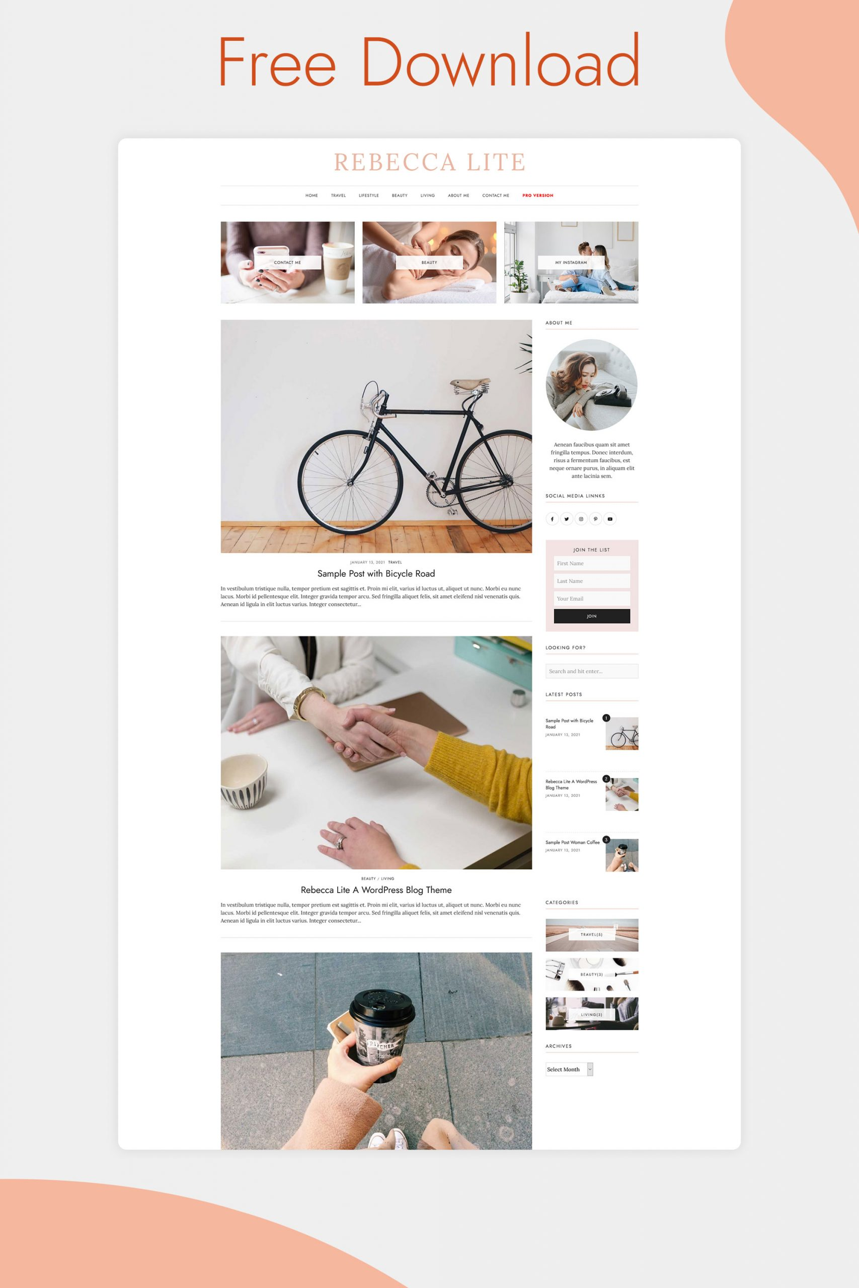 Rebecca Lite - Free WordPress Blog Theme